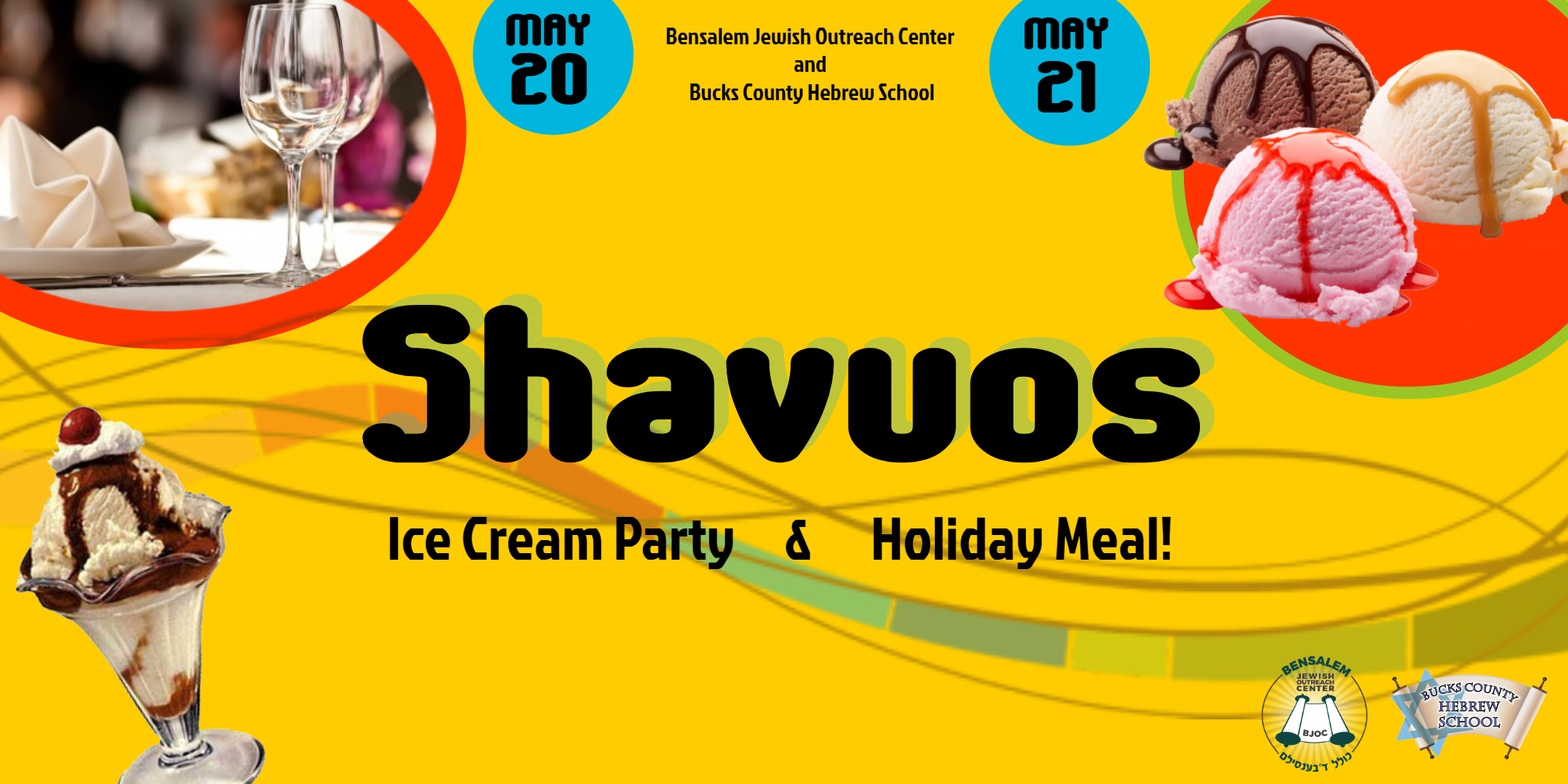 Shavuos Ice Cream Party and Community Luncheon