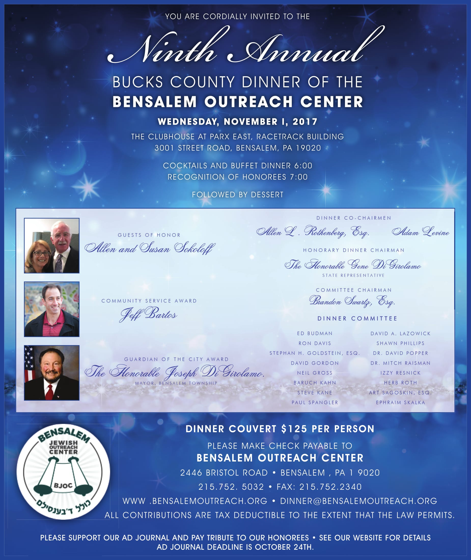 BJOC Ninth Annual Bucks County Dinner